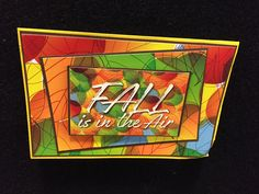 Autumn greeting card made from the Reminisce Watercolor Fall collection.