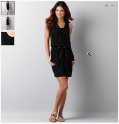Loft Embellished Black Dress
