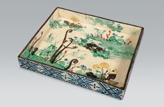 Ogata Kenzan | Platter with spring flowers