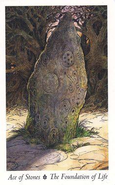 WILDWOOD TAROT --- **Ace of Stones**