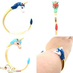 This bracelet is in the form of a unicorn. Pegasus, Mythical Creatures, Unicorns, My Little Pony, Bracelets, Jewelry, Jewerly, Jewlery, Magical Creatures