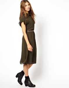 """Le Ciel Midi Shirt Dress Benjamin """"because of the boots with the dress"""" Becky"""