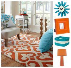 Turquoise & orange: the perfect pair.