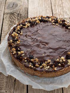 true taste hunters - kuchnia wegańska: Ciasto z czekoladą i musem śliwkowym (wegańskie, b...