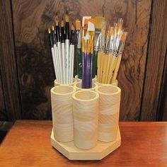 Marker Storage, Paint Storage, Craft Room Storage, Diy Storage, Craft Rooms, Ribbon Storage, Storage Rack, Storage Ideas, Colored Pencil Storage
