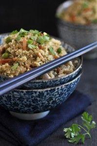Quinoa Salad with Indonesian Flavors (coconut, chili, cilantro, spices...)