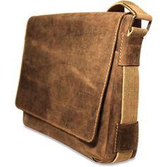 Arizona Rustic Buffalo Leather Hunter Camo Messenger Bag