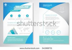 brochure cover vector template booklet mockup business report