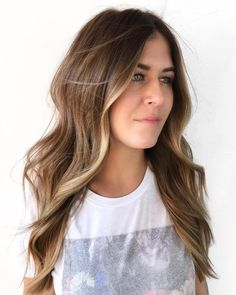 50 Marvelous Examples of Light Brown Hair with Highlights - Hair Adviser - Best Haircuts and Hairstyles for Women in 2019 Bronde Balayage, Brown Hair Balayage, Brown Blonde Hair, Ombre Hair, Wavy Hair, Bronde Hair, Blonde Ombre, Cool Blonde Highlights, Brown Hair With Highlights