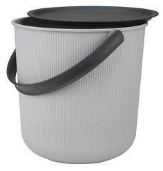 Úložné vedro AKITA 10L s vekom sivá   JYSK Akita, Rum, Storage Buckets, Bruges, Own Home, Wolf, Household, Plastic, Organising