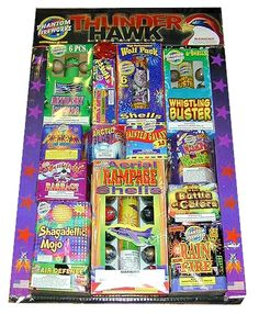 Phantom Fireworks® Thunder Hawk Assortment: Assortment of our most popular reloadable shell kits and 200 gram repeaters! Buy Fireworks, Firecracker, Fourth Of July, Smiley, Thunder, Shells, Bee, Popular, Holidays