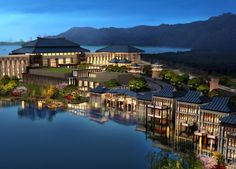 InterContinental Xuzhou 2nd City, Suzhou, Beach Hotels, Shanghai, Chinese, River, Mansions, Architecture, House Styles