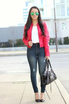 Blogger @Mayte doll looks uber chic in this Charlotte Russe cropped moto jacket! See more on her blog and shop her jacket at Charlotte Russe! http://www.charlotterusse.com/thumbnail/Clothes/Outerwear/Jackets/pc/2114/c/2629/2631.uts