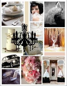 Vintage wedding glamour
