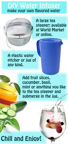 DIY Fruit Infuser to make flavored water. Fun Drinks, Yummy Drinks, Yummy Food, Homemade Detox, Fruit Slice, Diy Nails, Easy Meals, Easy Recipes, Easy Diy