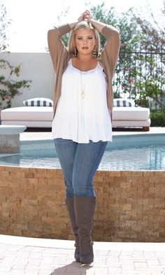 Wearing plus size outfits with boots always looks good on pretty much any woman there possibly is, even if you do have a little extra weight to spare on your part, you can still look