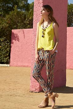 Patterned pants from Anthropologie