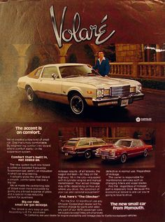 Chrysler magazine ads from 1970s, and they played this on tv so much I can still sing the jingle :(