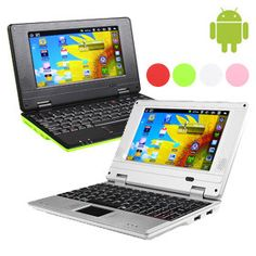 """Colorful 7"""" Google Android 2.3 Netbook"""