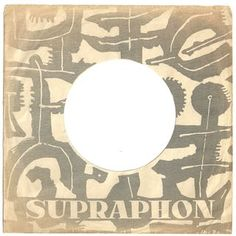 Former Czechoslovakia - Supraphon Logo Label, Vinyl Sleeves, Packaging, Sleeve Designs, Local Artists, Repeating Patterns, Illustration, One Color, Zine