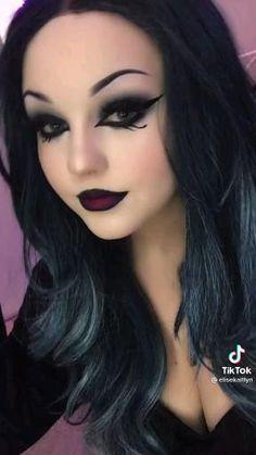Edgy Makeup, Male Makeup, Gothic Makeup, Makeup Inspo, Makeup Inspiration, Goth Makeup Tutorial, Smoky Eye Makeup Tutorial, Gorgeous Makeup, Pretty Makeup