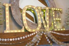 big letters, diy box letters, 2014, bluegrass blog, light box letters