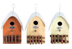 Sparrow Birdhouses, Asst. of 3 on OneKingsLane.com