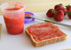 The Easiest Strawberry Freezer Jam Recipie Ever!!!!!