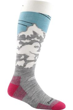 Glacier pattern Darn Tough socks. Order on Amazon. ~T  The Yeti. She's a beautiful beast. This burly, all-mountain performance sock has the perfect amount of cushioning along the bottom of the foot for extra support and comfort. Over-the-Calf height is id
