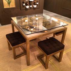 "Gilded medallion square game table by Tommy Mitchell 39"" High Point Market Fall 2014 Designs We Love at Design Connection, Inc. | Kansas City Interior Design http://www.DesignConnectionInc.com/Blog #HPMkt #HPMkt2014 #InteriorDesign"