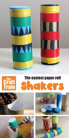 How to make a shaker. Easy cardboard tube shaker craft for preschoolers which becomes a fun musical instrument they can play and dance with! Movement Preschool, Preschool Music Activities, Preschool Crafts, Leadership Activities, Group Activities, Toddler Activities, Toddler Crafts, Diy Crafts For Kids, Music For Toddlers