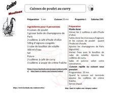 recette cookeo cuisses de poulet au curry