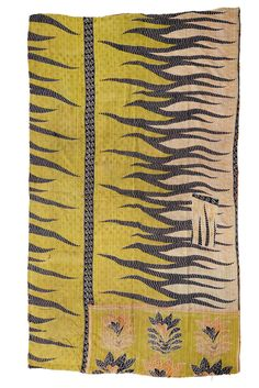Kantha Quilt Flame Trees