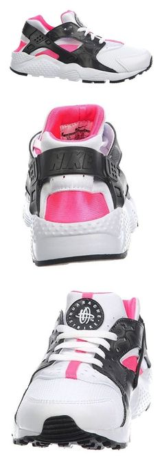 NIKE KIDS NIKE HUARACHE RUN (GS) WHITE PINK BLACK ANTHRACITE SIZE 3.5 #shoes #nike #sneakers #girls #departments #boys