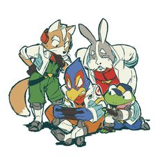Star Fox Team Play Switch Together. ☆Play Time is Over In Switch☆ Star Fox, Marvel Cartoon Movies, Cartoon Art, Nagano, Character Concept, Character Design, Fox Mccloud, Fox Games, Fox Pictures