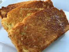 This is the best keto bread recipe for your ketogenic lifestyle! Easy to make an… This is the best keto bread recipe for your ketogenic lifestyle! Easy to make and tastes amazing, especially toasted with some butter on it! Keto Foods, Ketogenic Recipes, Keto Snacks, Ketogenic Diet, Low Carb Recipes, Ketogenic Lifestyle, Cooking Recipes, Bread Recipes, Ketogenic Breakfast