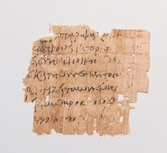 Ancient texts deciphered, letter fragment