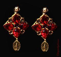 Byzantine style earrings, from a very very talented Ukranian artisan!