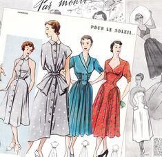 "1950s fashion - ""Primerose"" Vol.2 Parisian sewing pattern catalogs - Digital PDF downloads - 40 pages"