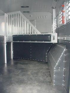 NEW Platinum Coach Horse Trailer with Living Quarters I bet i could DIY this. Dream Stables, Dream Barn, Horse Trailer Organization, Horse Transport, Horse Wall Decals, Stock Trailer, Horse Barn Designs, Gooseneck Trailer, Fifth Wheel Trailers