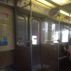 Inside the subway. #interior #Cta #subway #TheL #buleline