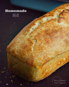 From my home to yours Homemade Bread Loaf recipe.Delicious, warm and so simple to prepare without kneading it. 4 Cups all purpose flour (not with sodium), flour for bread, cake, cookies etc. 1 teaspoon sugar 1.5 -2 teaspoons salt