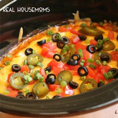 Slow Cooker 7-Layer Chili Cheese Dip l Real Housemoms