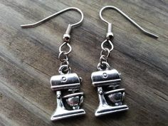 Kitchen Mixer Earrings Kitchen Aid Food Mixer Earrings Funky Country Bakery Miniature Sensitive Ears on Etsy, $4.95