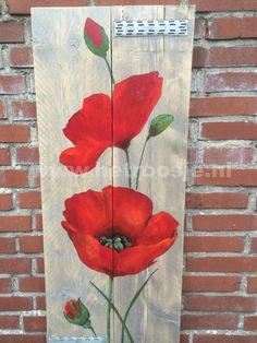Billedresultat for pallet art flowers Arte Pallet, Wood Pallet Art, Pallet Painting, Tole Painting, Painting On Wood, Diy Wood, Wood Pallets, Art On Wood, Pallet Benches