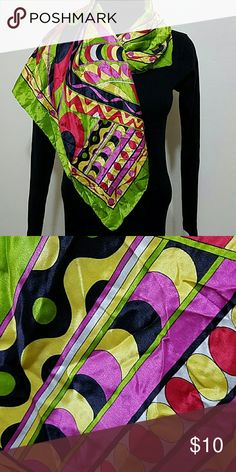 Symphony Scarf Made in Italy,  100% silk.  In good condition. Accessories Scarves & Wraps