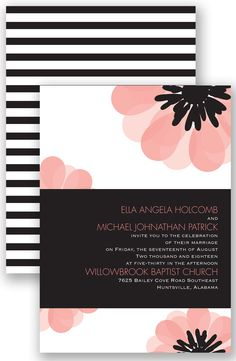 Mod Blooms Wedding Invitation by David's Bridal