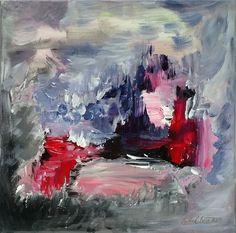 Canvas, pinkopohja. Taulu on signeerattu ja mukana toimitetaan aitoustodistus