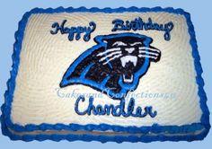 Carolina Panthers By Cakeyladey on CakeCentral.com