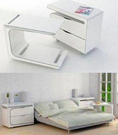 useful bedroom side table